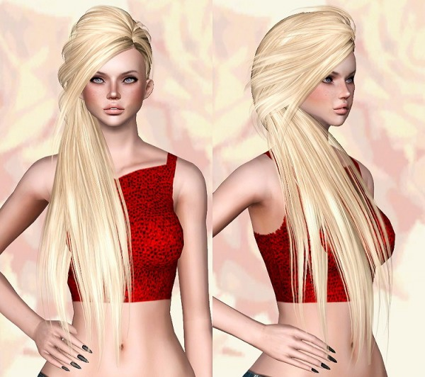 Skysims 253 hairstyle retextured by Chantel Sims for Sims 3