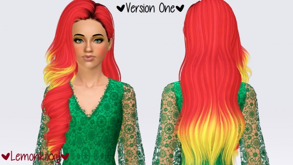 Skysims 244 hairstyle retextured by Lemonkixxy`s Lair for Sims 3