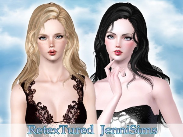 Newsea`s Hello hairstyle retextured by Jenni Sims for Sims 3