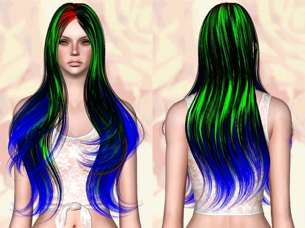 Skysims 254 hairstyle retextured by Chantel Sims for Sims 3