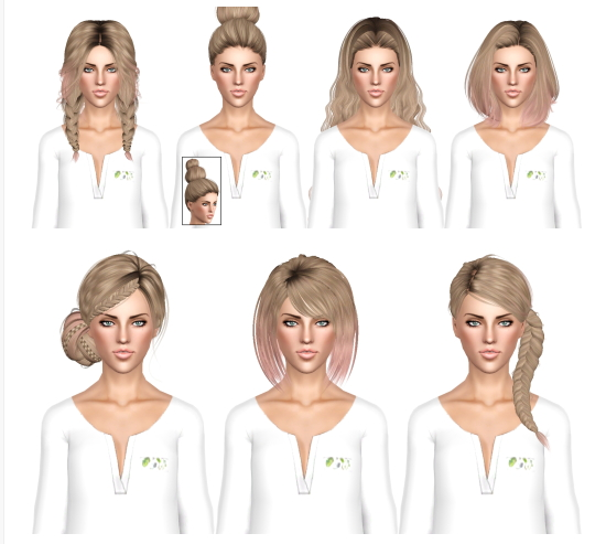 Random hair dump by July Kapo for Sims 3