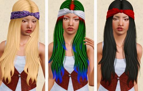 Nightcrawler 24 hairstyle retextured by Beaverhausen for Sims 3