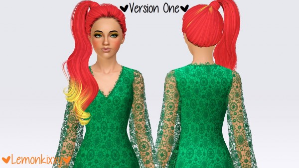 Skysims 059 hairstyle retextured by Lemonkixxy`s Lair for Sims 3