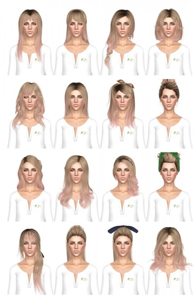 Hairstyle dump 2 by July Kapo for Sims 3