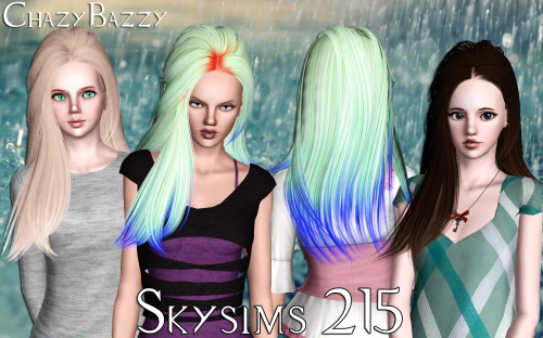 Skysims 215 hairstyle retextured by Chazy Bazzy for Sims 3