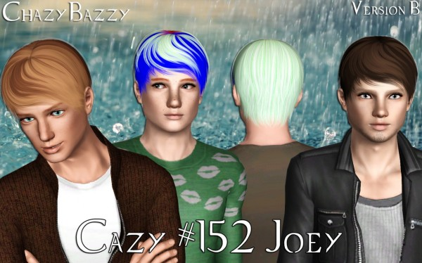 Cazy`s 152 Joey hairstyle retextured by Chazy Bazzy for Sims 3