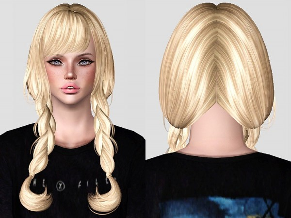 Skysims 225 hairstyle retextured by Chantel Sims for Sims 3