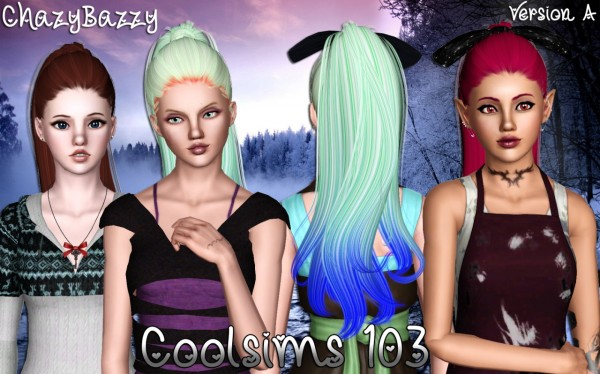 Coolsims 103hairstyle retextured by Chazy Bazzy for Sims 3