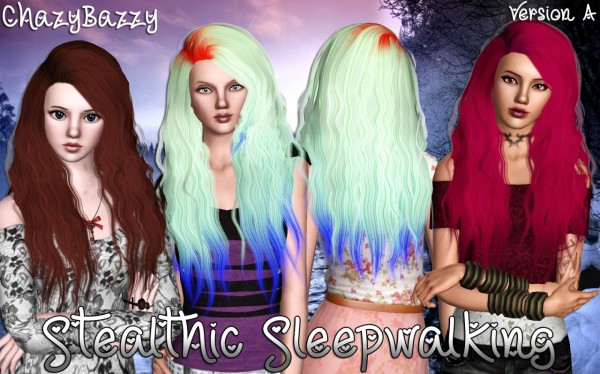 Stealthic Sleepwalking hairstyle retextured by Chazy Bazzy for Sims 3
