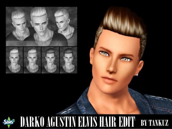 Darko Agustin Elvis Hairstyle Edit by Tankuz Sims 3 for Sims 3