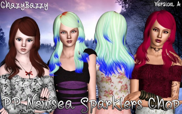 Newsea`s Sparklers Chop hairstyle retextured by Chazy Bazzy for Sims 3