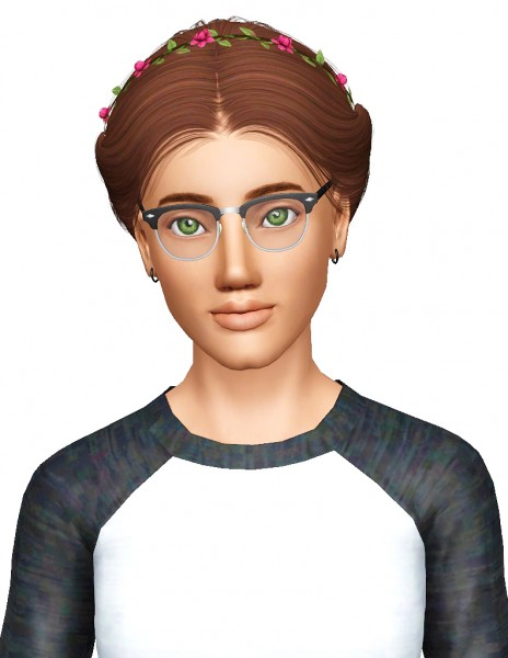 Alesso`s Paula hairstyle retextured by Pocketfulofdownloads for Sims 3