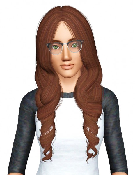 Alesso`s Renata hairstyle retextured by Pocketfulofdownloads for Sims 3