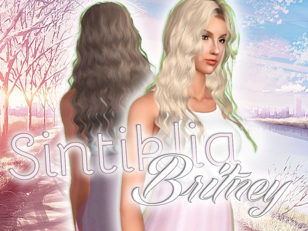 Sintiklia`a Britney hairstyle retextured by Artemis by The Sims Resource for Sims 3