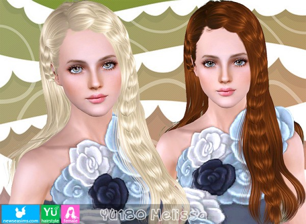 YU180 Melissa hairstyle by NewSea for Sims 3