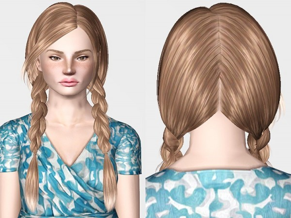 Skysims 163 hairstyle retextured by Chantel Sims for Sims 3