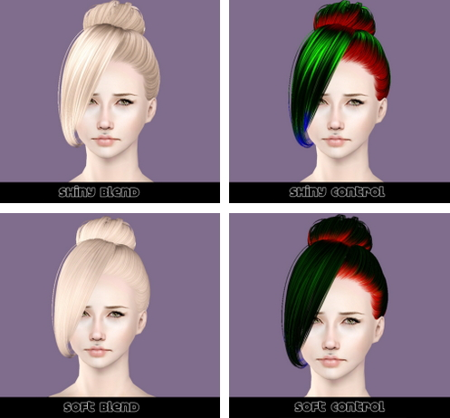 Butterflysims 137 hairstyle retextured by Plumb Bombs for Sims 3