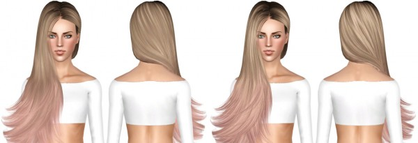 Alesso`s Cliche, Newsea`s Della and Skysims 259 hairstyle retextured by July Kapo for Sims 3