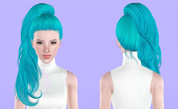 Newsea`s Sweet Villain hairstyle retextured by Porcelain Warehouse for Sims 3