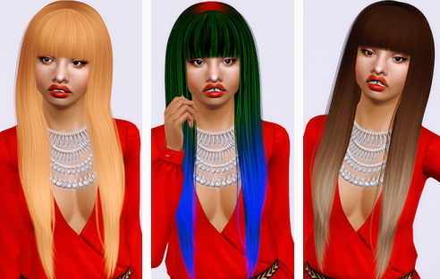 Cazy`s Izzy hairstyle retextured by Beaverhausen for Sims 3