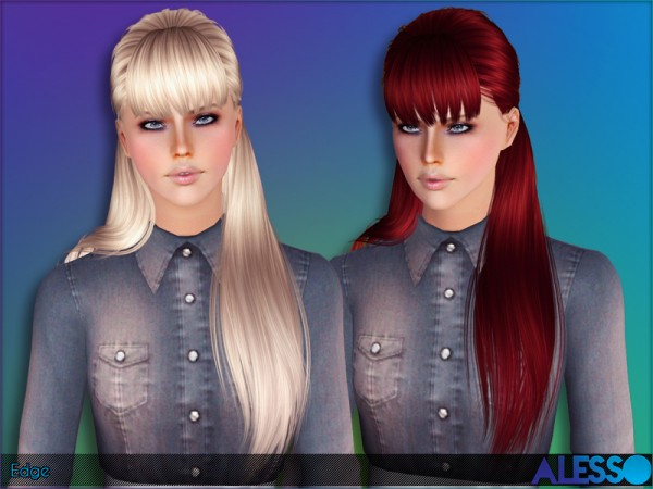 Alesso   Edge Hairstyle retextured by The Sims Resource for Sims 3