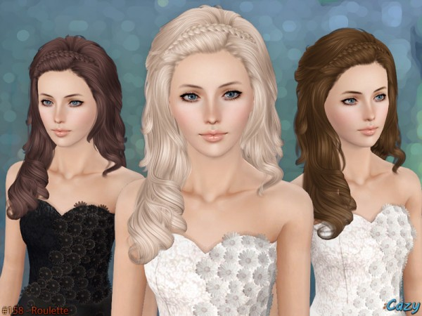 Roulette Hairstyle Set by Cazy by The Sims Resource for Sims 3