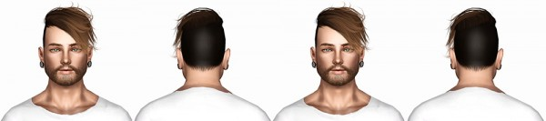 Stealthic Hysteria hairstyle retextured by July Kapo for Sims 3