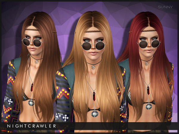 Sunny hairstyle by Nightcrawler by The Sims Resource for Sims 3