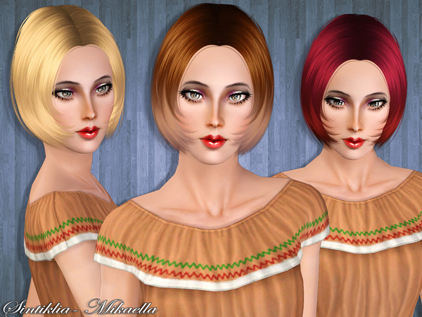 Hair Mikaella by Sintiklia by The Sims Resource for Sims 3