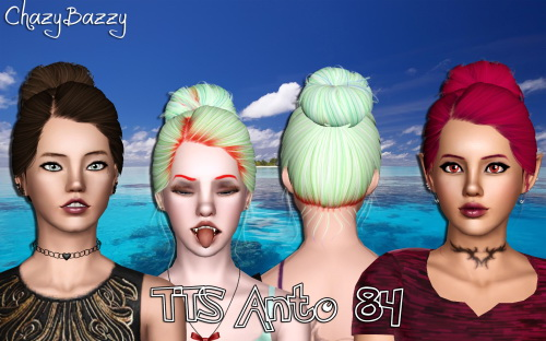 TTS Anto 84 hairstyle retextured by Chazy Bazzy for Sims 3