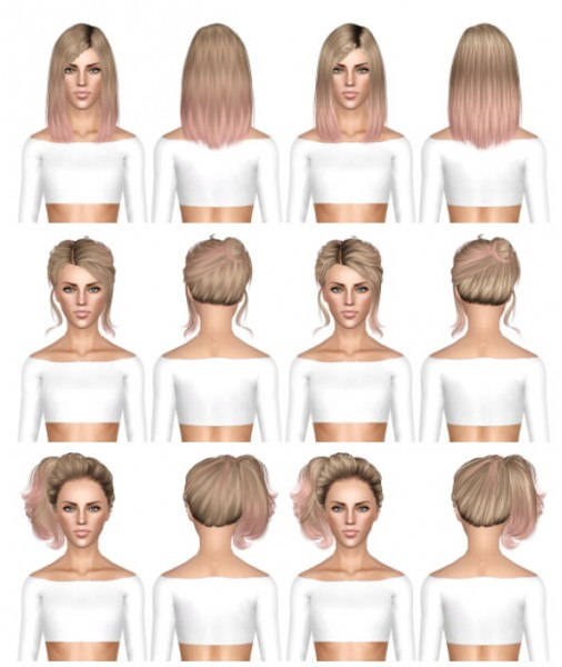 Alesso Circus, Skysims 53, Skysims 56 hairstyles retextured by July Kapo for Sims 3