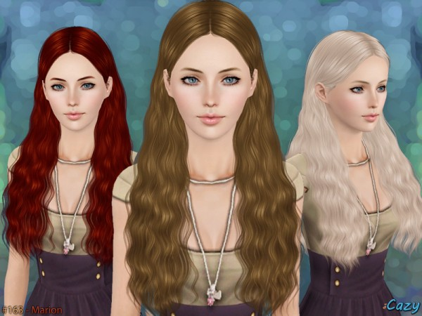 Marion Hairstyle   Set by Cazy by The Sims Resource for Sims 3