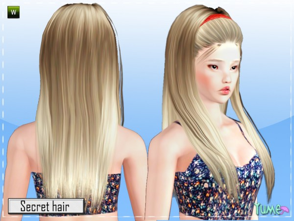 Yume   Secret hairstyle by Zauma by The Sims Resource for Sims 3