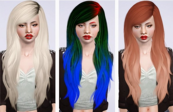 Stealthic Fairytale hairstyle retextured by Beaverhausen for Sims 3