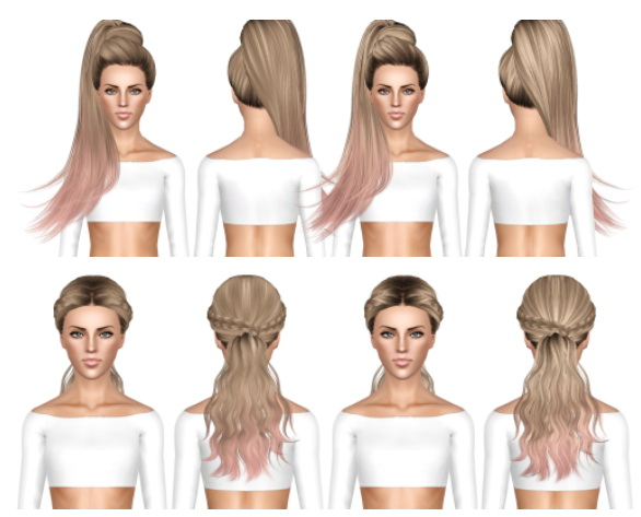 Skysims 268 and 270 hairstyles retextured by July Kapo for Sims 3