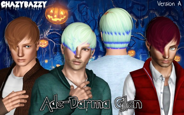 Ade Darma Glen hair retextured by Chazy Bazzy for Sims 3