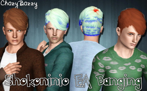 EA Banging hairstyle retextured by Chazy Bazzy for Sims 3