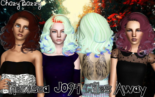 Newsea`s J094 Miles Away hairstyle retextured by Chazy Bazzy for Sims 3