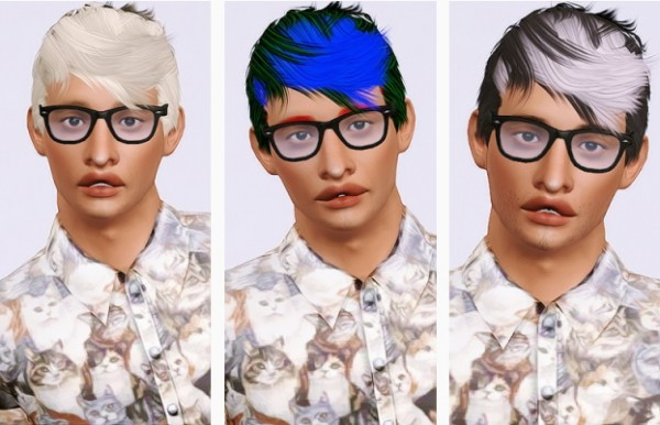 Stealthic Persona hairstyle retextured by Beaverhausen for Sims 3