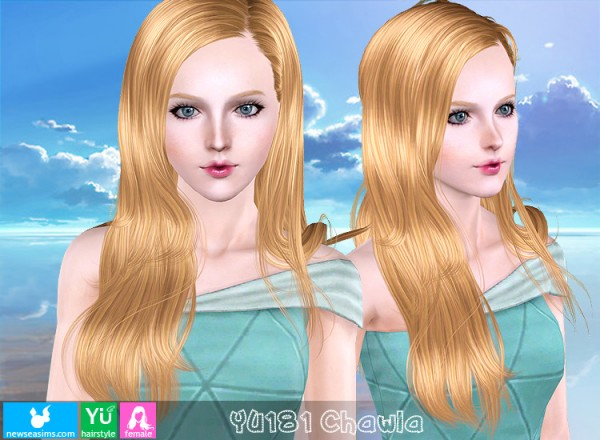 YU 181 Chawla hair for TS3 by NewSea for Sims 3