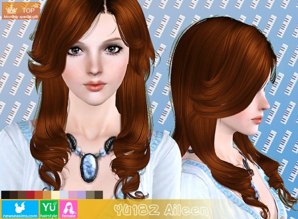YU182 Aileen hair for TS3 by NewSea for Sims 3