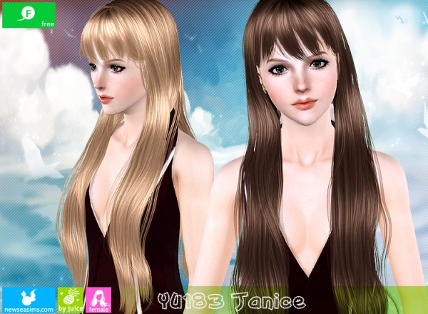 YU 183 Janice hair for TS3 by NewSea for Sims 3