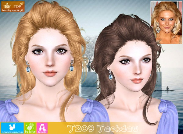 J209 Jackdaw hair for TS3 by NewSea for Sims 3
