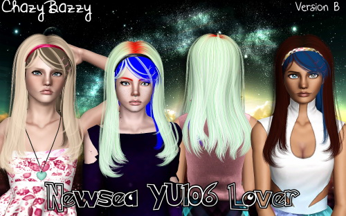 Newsea`s YU106 Lover hairstyle retextured by Chazy Bazzy for Sims 3