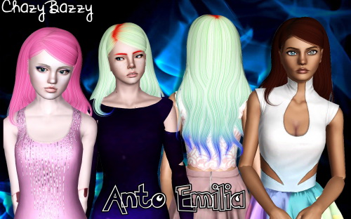 Alesso`s Emilia hairstyle retextured by Chazy Bazzy for Sims 3