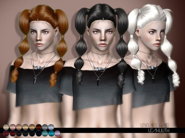 Spirals Hairstyle for sims 3 by LeahLillith by The Sims Resource for Sims 3