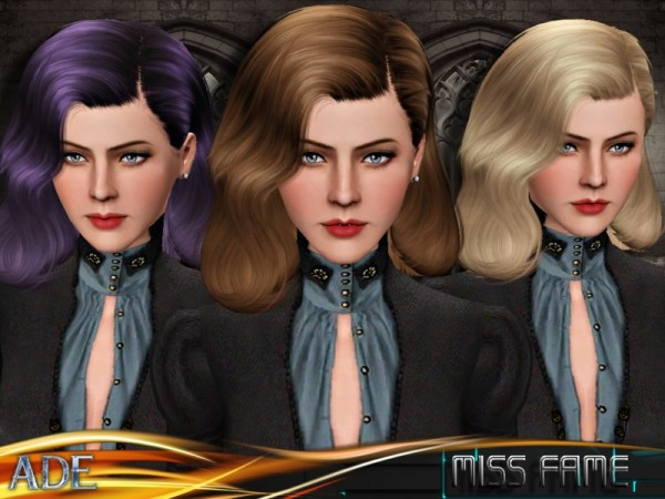 Miss Frame hairstyle by Ade Darma by The Sims Resource for Sims 3