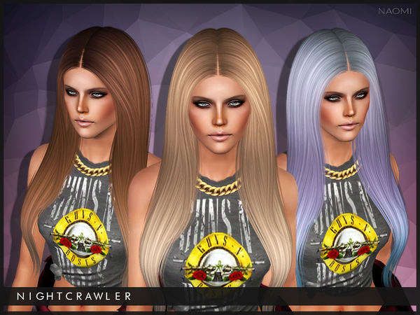 Naomi hairstyle for sims 3 by Nightcrawler by The Sims Resource for Sims 3
