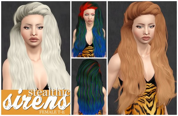 Sthealtic Sirens hairstyle retextured by Beaverhausen for Sims 3