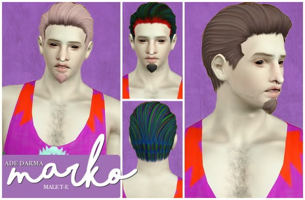 Ade Darma Marko hairstyle retextured by Beaverhausen for Sims 3